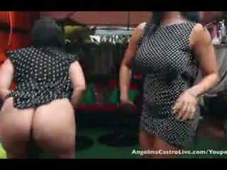 Angelina castro ja neiti raquel pillua pelata sisään the sadetta!