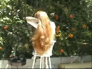 Carmella Long Hair Brushing and Braids, Porn f8