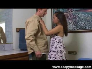 Chinese Massage Labia Oils Up Her Boobs And Then His Rooster