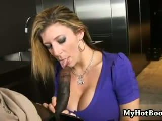 Sarah Jay is a blonde haired MILF who ...