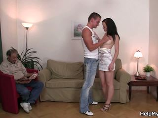 Young Brunette Wife Swap for Older Man, Porn f0