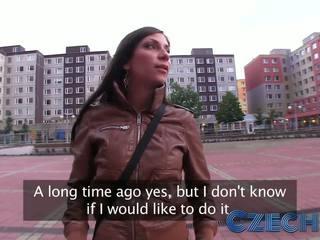 Czech - Girl lets guy fuck her on car bonnet