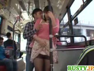 Hana haruna tettona sucks shlong in autobus