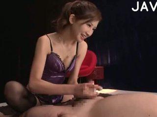 brünette, japanisch, cumshot