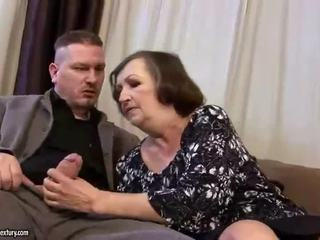 Ugly fat granny gets fucked hard