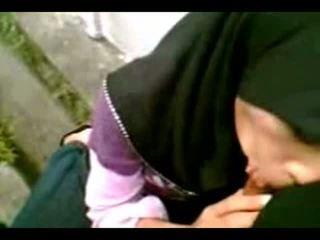 Arab muslim hijab dziewczyna ssać cook-sexyhijaber.com