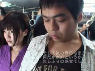 Publike bj onto the autobuz rreth nxehtë japoneze mdtq.