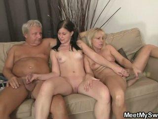 jung, spielzeug, 3some