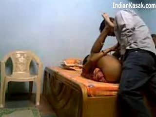 Indieši servant jāšanās ļoti grūti ar houseowner uz guļamistaba