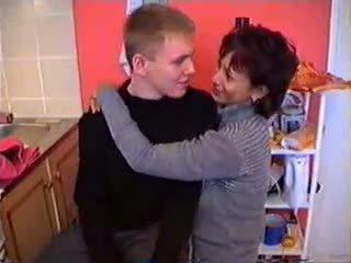 Olga with her son in naharhana