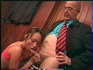 Professor fondles sniffs licks et fingers bamboo