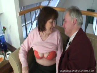 Big Tit Granny Ivana Spunked Good Onto Her Taut Hairy Muff