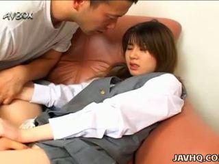 Японки училище момиче ami matsuda духане и