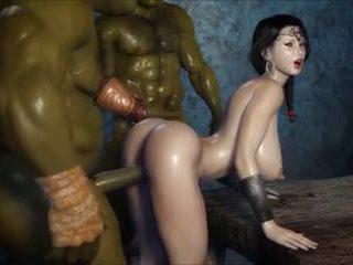 2 geants baisent une jolie fille, ingyenes porn 3c