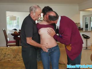 Inked Teenager Spitroasted by Geriatrics, Porn 75