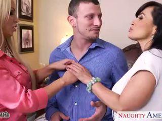 Caliente esposas lisa ann y nikki benz sharing un grande rabo