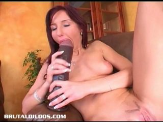 Biggest dildo fuck you will ever see!