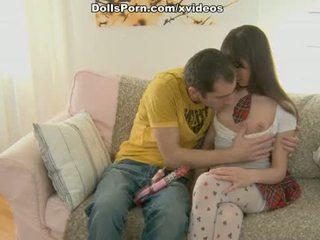 Dildo and stockings sex movie scene 1