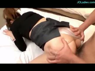 Busty office lady getting her pussy fu...