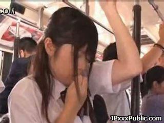 Sexy japoneze adoleshencë qij në publike places 34