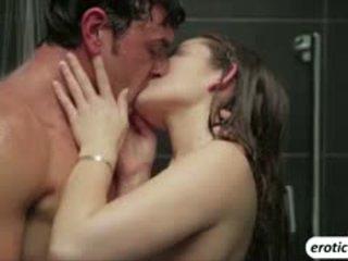 klocka brunett, lick topplista, fria dusch