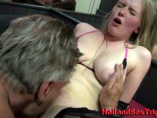 매춘부 gets 림 작업 과 사정