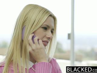 Blacked blondine vrouw kennedy kressler gets wraak met een groot zwart lul