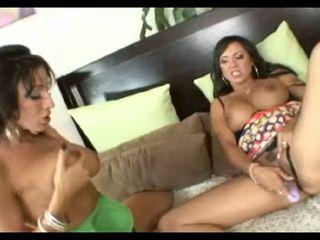Sluts with big tits share big cock sperm swap load of cum! Ricki White & Mariah