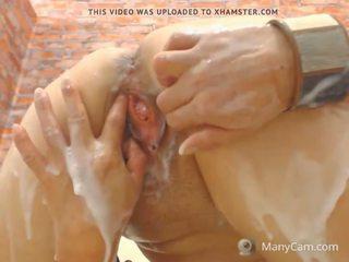 pisilés, maszturbáció, creampie