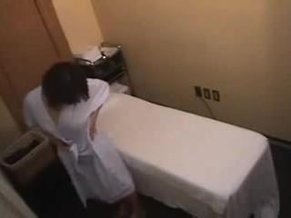 japonais, rasée, massage
