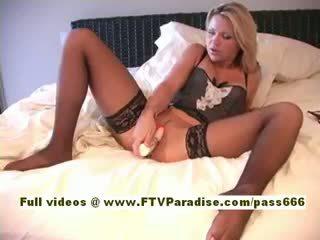 Svetlana Independent Hot Blonde Chick In Lingerie Fingering