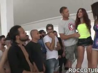 check brunette any, group sex, blowjob