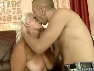 Busty grandma getting fucked pretty hard