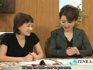 Subtitled одягнена жінка голий чоловік японська новини reporters risque handjobs
