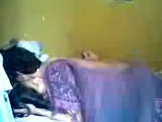 Indonesian Romantic Teen Couple Make Love in Bedroom