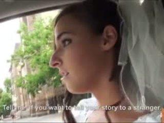 Horký nevěsta fucks po failed svatba