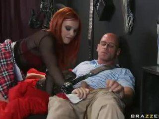 blow job, big dick, red head