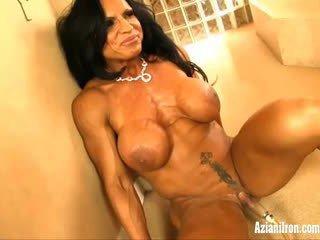 Aziani Iron Rhonda Lee pumping her big...