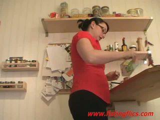חובבן אישה אנאלי fisted ב the מטבח