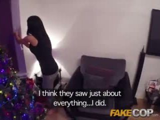 Fake Cop Cam girl caught at night has her big tits investigated