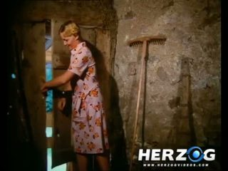 Seksualu bavarian blondinė getting banged į the barn