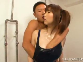 Boy Makes Love His Oriental Girl And Lets His Companion Check Out Them
