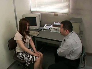 brunetka, chudy, biuro