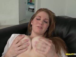 Lovely babe Bre Pheonix has so big lovely white boobs and pink pussy and Ramon Nomar gets horny of seing that