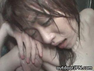 Akari hoshino יפני בחוץ קשה