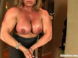 clit, big clit, female bodybuilder