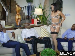 Blacked adriana chechik takes trio 的 bbcs