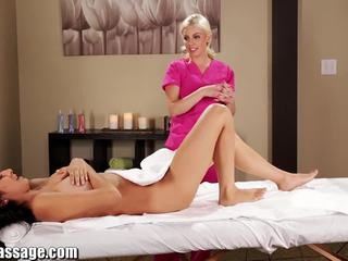 All Girl Massage Megan Salinas oily Lesbian rubdown