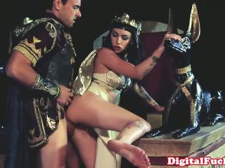 埃及的 孩儿 吸吮 和 他妈的 硬