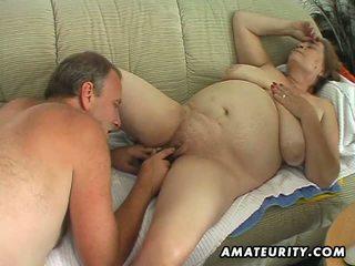 Paffuto matura amatoriale moglie sucks e fucks